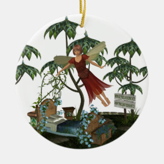 Tooth Fairy in Flight Christmas Ornaments