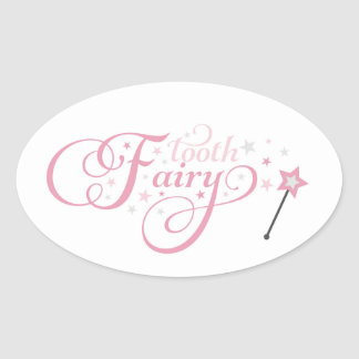 Tooth Fairy Oval Sticker