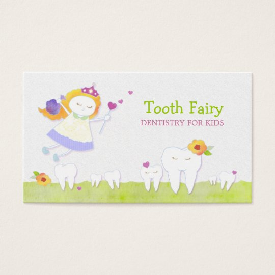 Tooth Fairy Paediatrics Dentists Business Cards