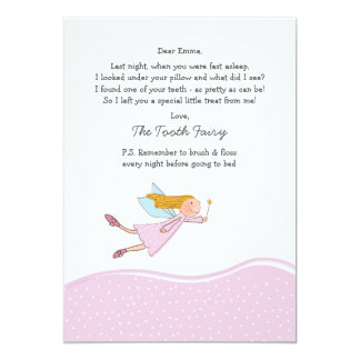 Tooth Fairy (Pink) Card