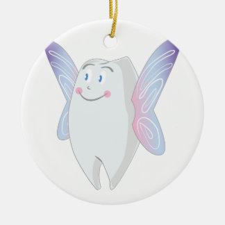 Tooth Fairy Round Ceramic Decoration