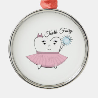 Tooth Fairy Silver-Colored Round Decoration