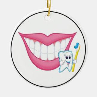 tooth fairy smile round ceramic decoration