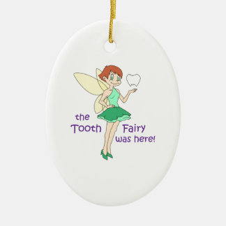 TOOTH FAIRY WAS HERE CERAMIC OVAL DECORATION