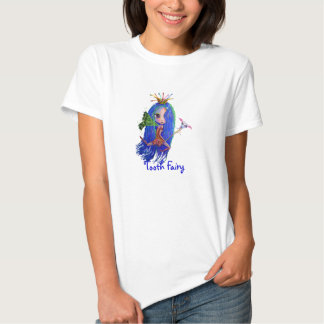 Tooth Fairy with Toothbrush Crown Tshirts