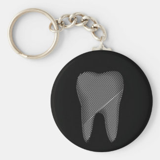 Tooth graphic for dentist key ring