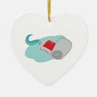 Tooth Paste Ceramic Heart Decoration