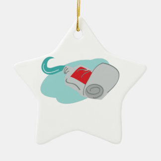 Tooth Paste Double-Sided Star Ceramic Christmas Ornament