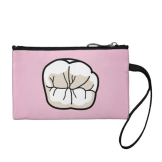 Tooth [PINK] Clutch Coin Wallets