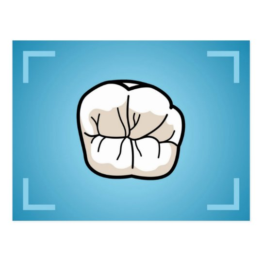 Tooth Post-Card Postcard
