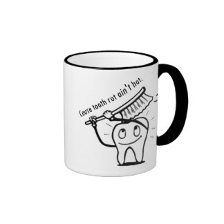 Tooth Rot Ain't Hot Ringer Mug