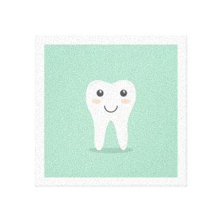 Tooth Stretch Canvas Dentist Dental Dentists Art