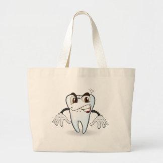 tooth jumbo tote bag