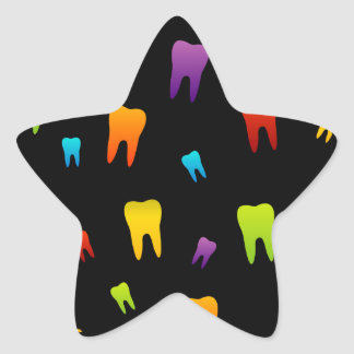 Tooth wallpaper for dentist star sticker