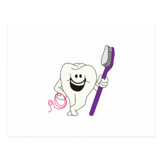 Tooth with Brush Postcard