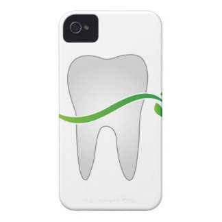 Tooth with green leaves Case-Mate iPhone 4 cases
