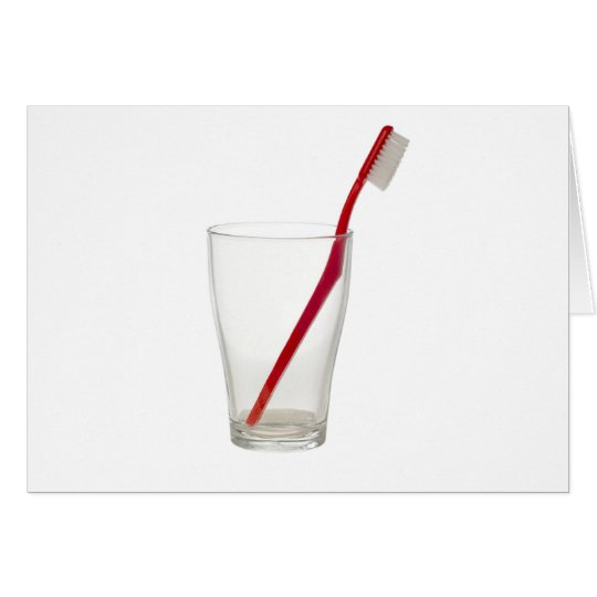 Toothbrush in a glass card