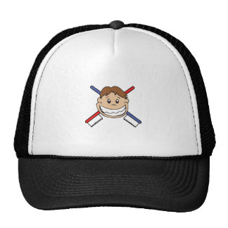 TOOTHBRUSHES AND KID TRUCKER HAT