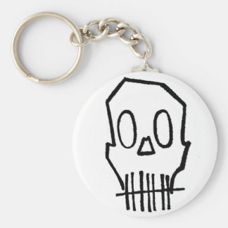 Toothee Mc Skull Basic Round Button Key Ring