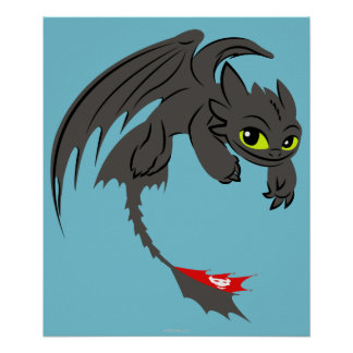 Toothless Illustration 01 Poster