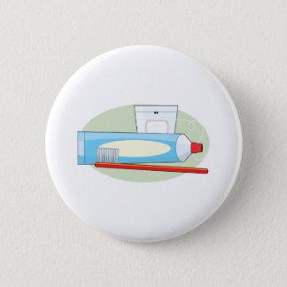 Toothpaste and Brush 6 Cm Round Badge