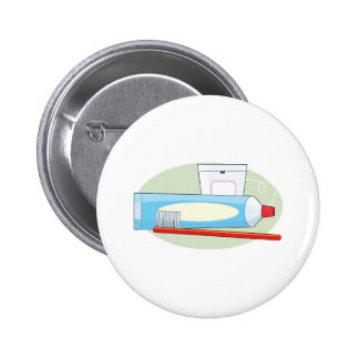 Toothpaste and Brush 6 Cm Round Badge