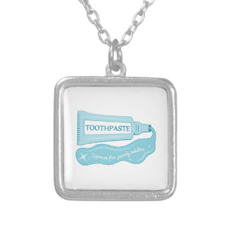 Toothpaste Squeeze for Pearly Whites Personalized Necklace