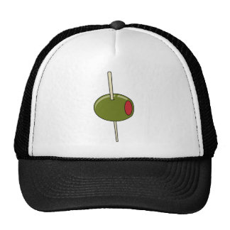 toothpicked olive mesh hats