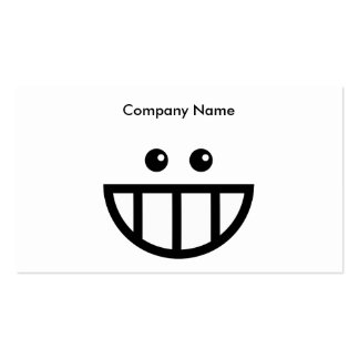 Toothy Face, Company Name Business Card Template