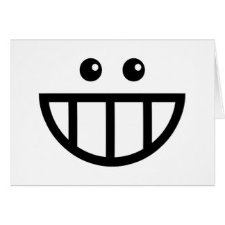 Toothy Face Thank You Greeting Card