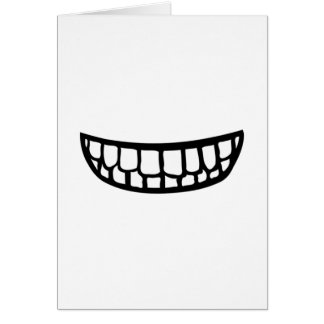 Toothy smile card