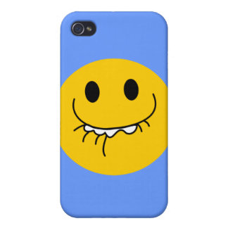 Toothy smile smiley face case for iPhone 4