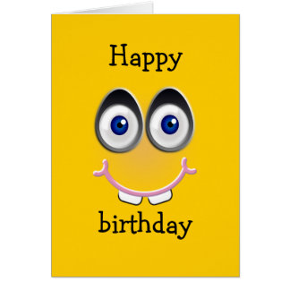 toothy smile - yellow greeting card