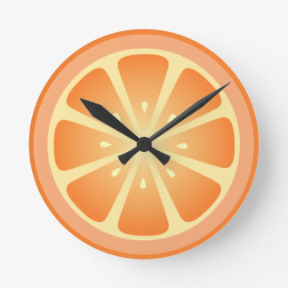 Tootie Fruity Orange Clock