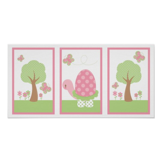 Tootsie Turtle Wall Print Pink