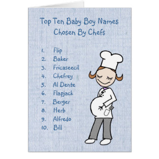 Top 10 Boy Names Chosen By Chefs Greeting Card