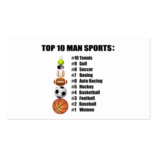 Top 10 man sports business card for Top 10 business cards