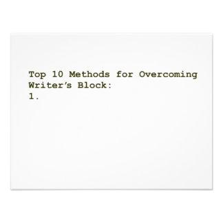 Top 10 Methods for Overcoming Writer s Block Custom Invites