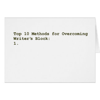 Top 10 Methods for Overcoming Writer's Block Card