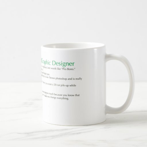 Top 10 Reasons to be a Graphic Designer Mug
