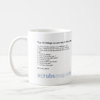 Top 10 things nurses say in their sleep! coffee mug