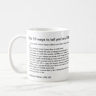 Top 10 Ways to tell you're a CNA Basic White Mug