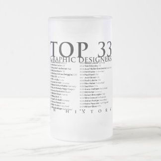 Top 33 Graphic Designers in History_01 Frosted Glass Mug