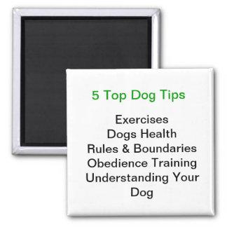 Top 5 Dog Tips Square Magnet