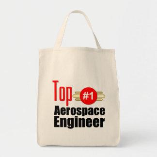 Top Aerospace Engineer Grocery Tote Bag