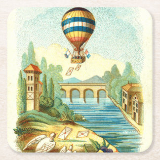 TOP Air Trip Square Paper Coaster