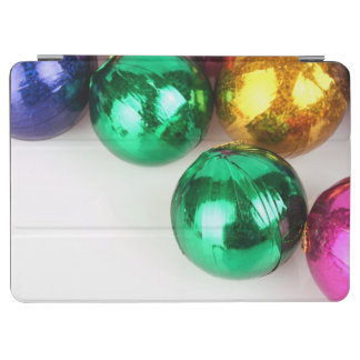 Top angle shot of Christmas Baubles iPad Air Cover