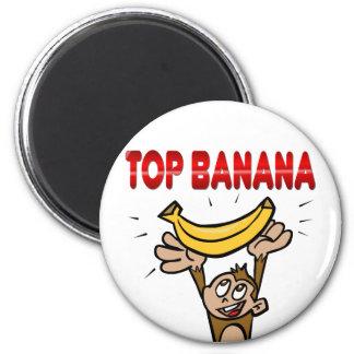 Top Banana 6 Cm Round Magnet