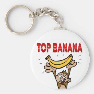 Top Banana Basic Round Button Key Ring