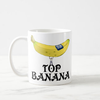 Top Banana Basic White Mug